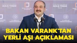 Sanayi ve Teknoloji Bakanı Mustafa Varank'tan yerli aşı açıklaması