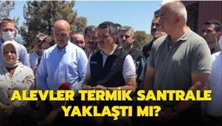 Milas'taki Yeniköy Termik Santraline alevlerin yaklaştığı iddiası... Bakan Pakdemirli açıkladı