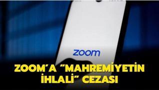 Zoom'a  Mahremiyetin ihlali  cezası: 86 milyon dolar ödeyecek