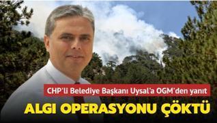 CHP'li Belediye Başkanı Uysal'ın algı operasyonu çöktü... OGM'den yanıt