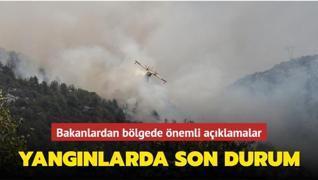 Bakanlar orman yangını bölgesinde
