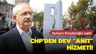 Açılışını Kılıçdaroğlu yaptı: CHP'den dev 'anıt' hizmeti!