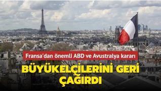 Fransa'dan kritik ABD ve Avustralya kararı