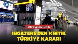 İngiltere'den kritik Türkiye kararı