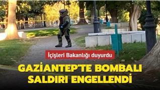 İçişleri Bakanlığı duyurdu... Polisin dikkati, bombalı saldırıyı önledi