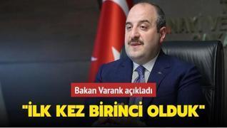Bakan Varank'tan 'Bilim İnsanları' açıklaması: İlk kez birinci olduk