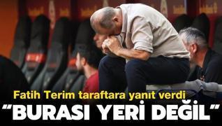 Fatih Terim'den taraftara yanıt