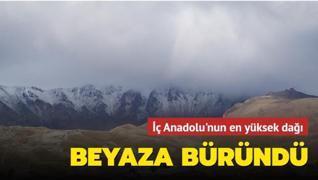 İç Anadolu'nun en yüksek dağı... Beyaz örtüyle kaplandı