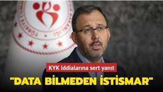 Bakan Kasapoğlu'ndan KYK iddialarına sert yanıt: Data bilmeden istismar