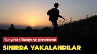 Suriye'den Türkiye'ye gireceklerdi... Sınırda yakalandılar