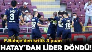 Fenerbahçe Hatay'danlider döndü: 1-2