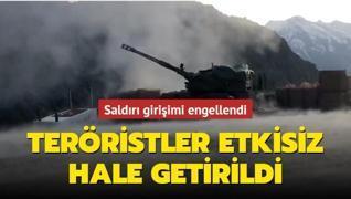 Saldırı girişimi engellendi... PKK/YPG'li teröristler etkisiz hale getirildi