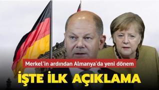 Merkel'in ardından Almanya'da yeni dönem: İşte ilk açıklama