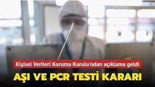 Kişisel Verileri Koruma Kurulu'ndan 'PCR testi' kararı
