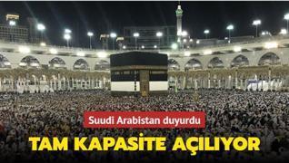 Suudi Arabistan duyurdu: Mescid-i Haram ve Mescid-i Nebevi tam kapasite açılıyor