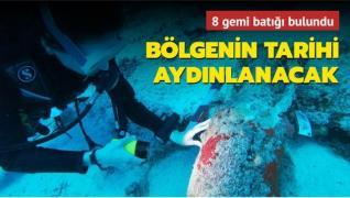 Akdeniz'de yeni keşif... 8 batık gemi bulundu