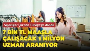 7 bin TL maaşla çalışacak 1 milyon uzman aranıyor