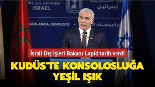 İsrail Dış işleri Bakanı Lapid ABD'li mevkidaşına tarih verdi... Kudüs'te Konsolosluğa yeşil ışık