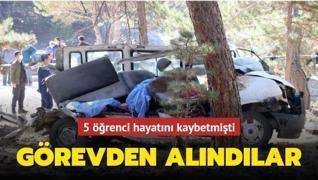 5 öğrenci hayatını kaybetmişti... Müdürler görevden alındılar