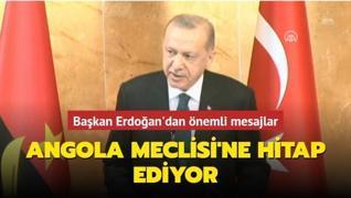 Başkan Erdoğan, Angola Meclisi Genel Kurulu'na hitap ediyor