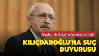 Başkan Erdoğan'dan Kılıçdaroğlu'na suç duyurusu