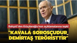 Bahçeli'den Kılıçdaroğlu'nun açıklamalarına tepki: Kavala Sorosçudur, Demirtaş teröristtir
