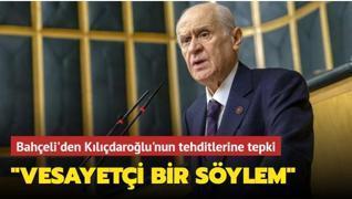 Devlet Bahçeli'den Kılıçdaroğlu'nun tehditlerine sert tepki... 'Vesayetçi bir söylemdir'