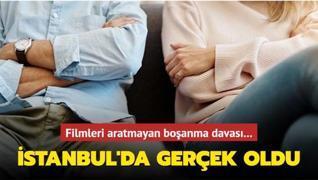Filmleri aratmayan boşanma davası! İstanbul'da gerçek oldu