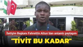 İletişim Başkanı Fahrettin Altun'dan anlamlı paylaşım: Tivit bu kadar