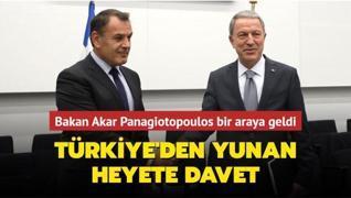 Bakan Akar Panagiotopoulos bir araya geldi... Türkiye'den Yunan heyete davet