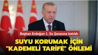 Başkan Erdoğan 1. Su Şurasına Telekonferans ile katıldı