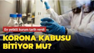 Dünya Sağlık Örgütü, koronavirüsün bitişi için tarih verdi