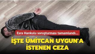 Esra Hankulu soruşturması tamamlandı... Ümitcan Uygun'a istenen ceza belli oldu