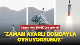 Kuzey Kore BMGK'ye seslendi... 'Zaman ayarlı bombayla oynuyorsunuz'