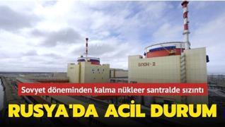 Rusya'da nükleer santralde sızıntı