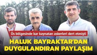 Haluk Bayraktar'dan Özdemir Bayraktar paylaşımı... Su olmayan üs bölgesinde kar kaynatan askerleri dert etmişti