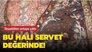 Tesadüfen ortaya çıkan servetlik Osmanlı halısı Yenikapı'da