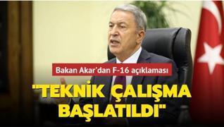 Milli Savunma Bakanı Akar'dan F-16 açıklaması