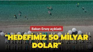 Bakan Ersoy açıkladı: Hedefimiz 50 milyar dolar