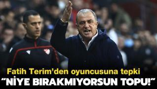 Fatih Terim'den maç sonu oyuncusun tepki