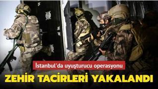 İstanbul'da uyuşturucu operasyonu... Zehir tacirleri yakalandı