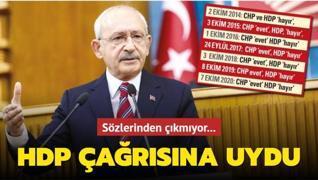 CHP, HDP'nin sınavına boyun eğdi