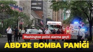 Washington polisi alarma geçti... ABD'de bomba paniği