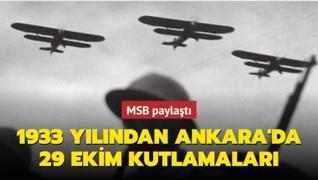 MSB paylaştı: 1933 yılından Ankara'da 29 Ekim kutlamaları
