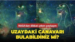 NASA'dan dikkat çeken paylaşım: Uzaydaki canavarı bulabildiniz mi?