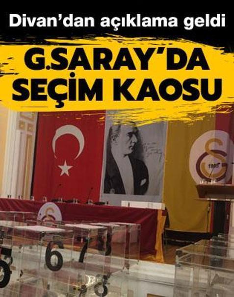 Galatasaray'da seçim kaosu! Divan'dan açıklama geldi