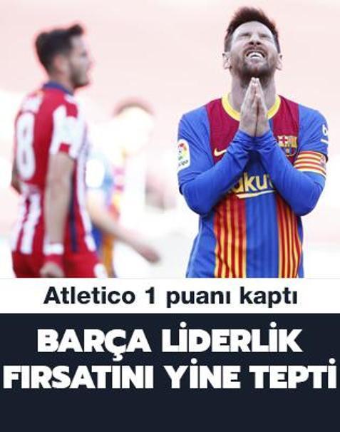 Barcelona liderlik fırsatını yine tepti: 0-0