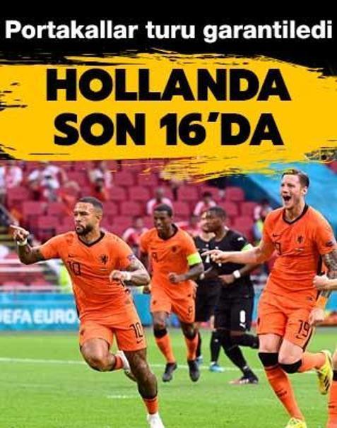 Hollanda şampiyonada son 16 turu biletini kaptı
