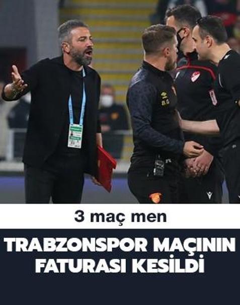 Trabzonspor maçının faturası kesildi! 3 maç men