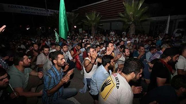 Gece boyu İsrail protestosu